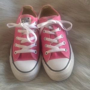 Pink converse all-star tennis shoes